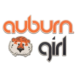 Decal, Auburn Girl with Aubie Head
