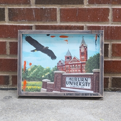 Auburn Spirit Framed Canvas