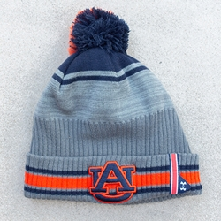 AU 2019 Sideline Beanie with Cuff and Pom