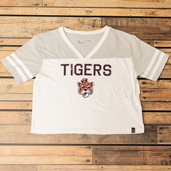 Auburn Tigers Under Armour Beanie Head V-Neck Tee