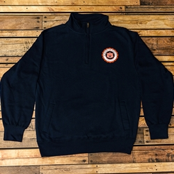 1/4 zip Fleece Faux Seal Sweatshirt