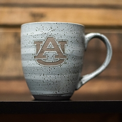 AU Dark Grey Swirl Etched Mug