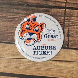 It's Great To Be An Auburn Tiger Button