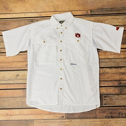 Short Sleeve Button Down Wingshooter, White